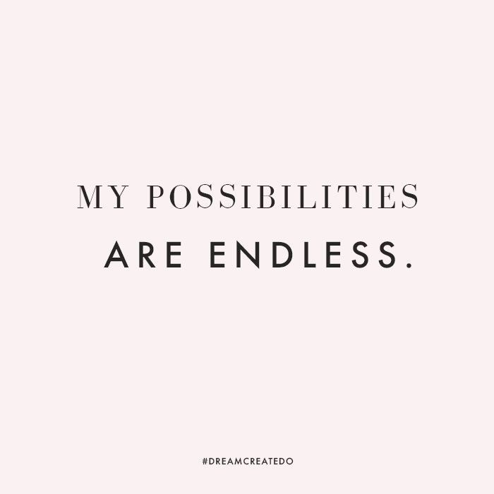 Endless possibilities hope future prosperous