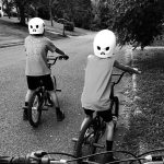 children boys biking