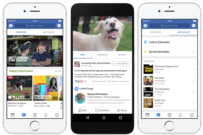 facebook watch mobile device
