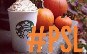 pumpkin spiced latte starbucks basic fall coffee