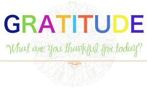 gratitude thankful postitivity