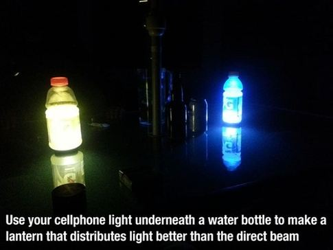 water bottle cell phone hack