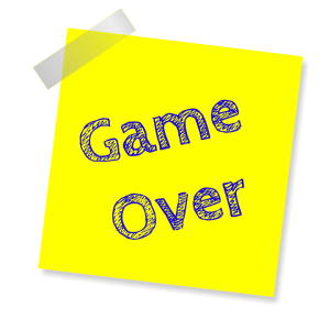 game over post it