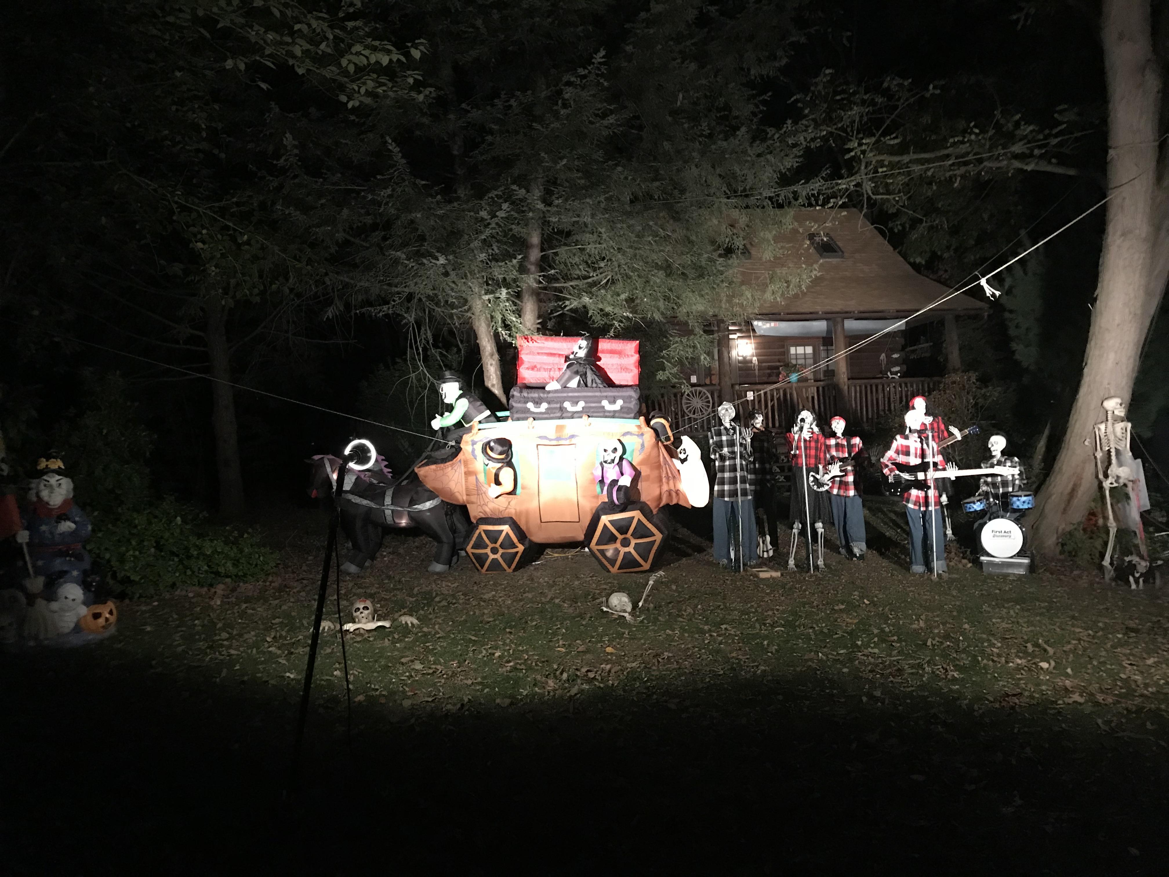 community bonfire Halloween