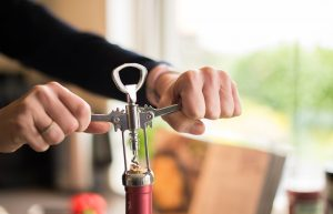 uncorking wine opener